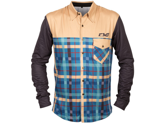 TSG Flannel Langarm Trikot lumberjack beige